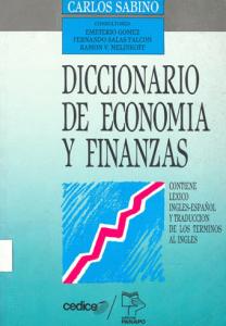 Descargar Libro Diccionario de economía y finanzas en PDF